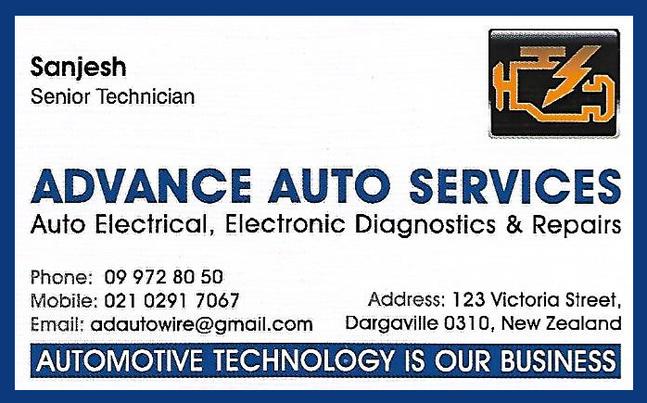 Advance Auto Services Dargaville Auto Electrician
