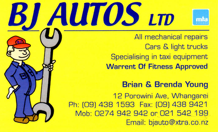Bj Autos Whangarei Wof Centre Whangarei Warrant Of Fitness